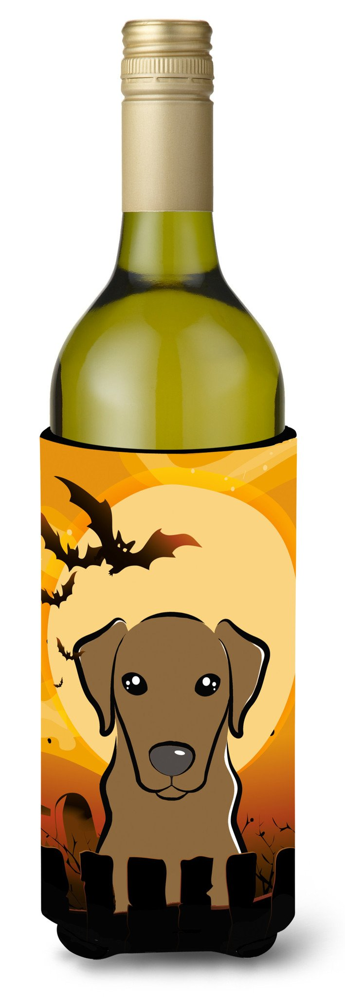 Halloween Chocolate Labrador Wine Bottle Beverage Insulator Hugger BB1792LITERK by Caroline's Treasures