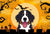 Buy this Halloween Bernese Mountain Dog Fabric Placemat BB1795PLMT
