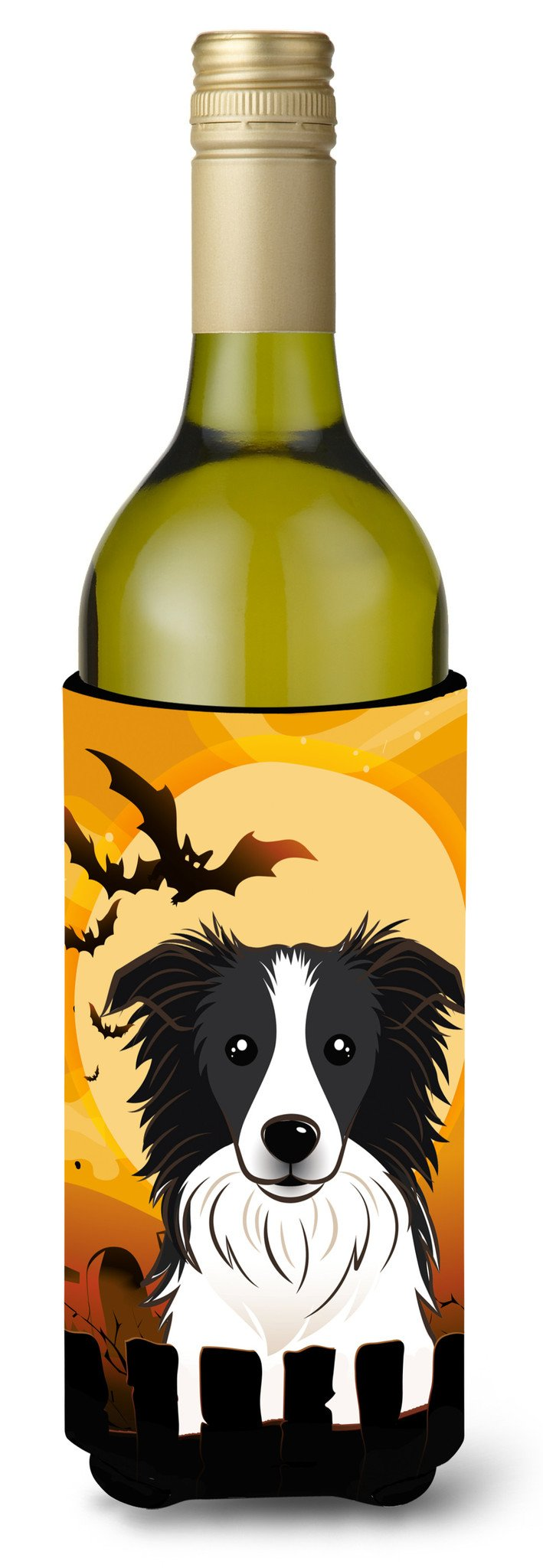 Halloween Border Collie Wine Bottle Beverage Insulator Hugger BB1799LITERK by Caroline's Treasures