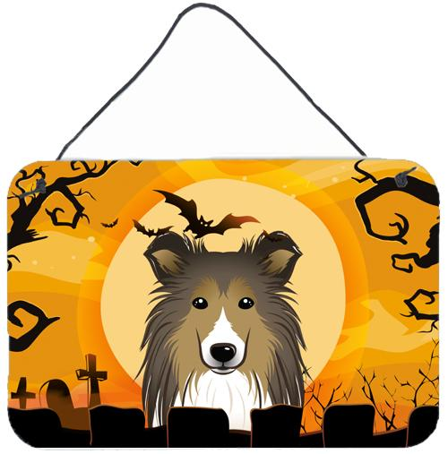 Buy this Halloween Sheltie Wall or Door Hanging Prints BB1800DS812