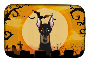 Buy this Halloween Doberman Dish Drying Mat BB1803DDM