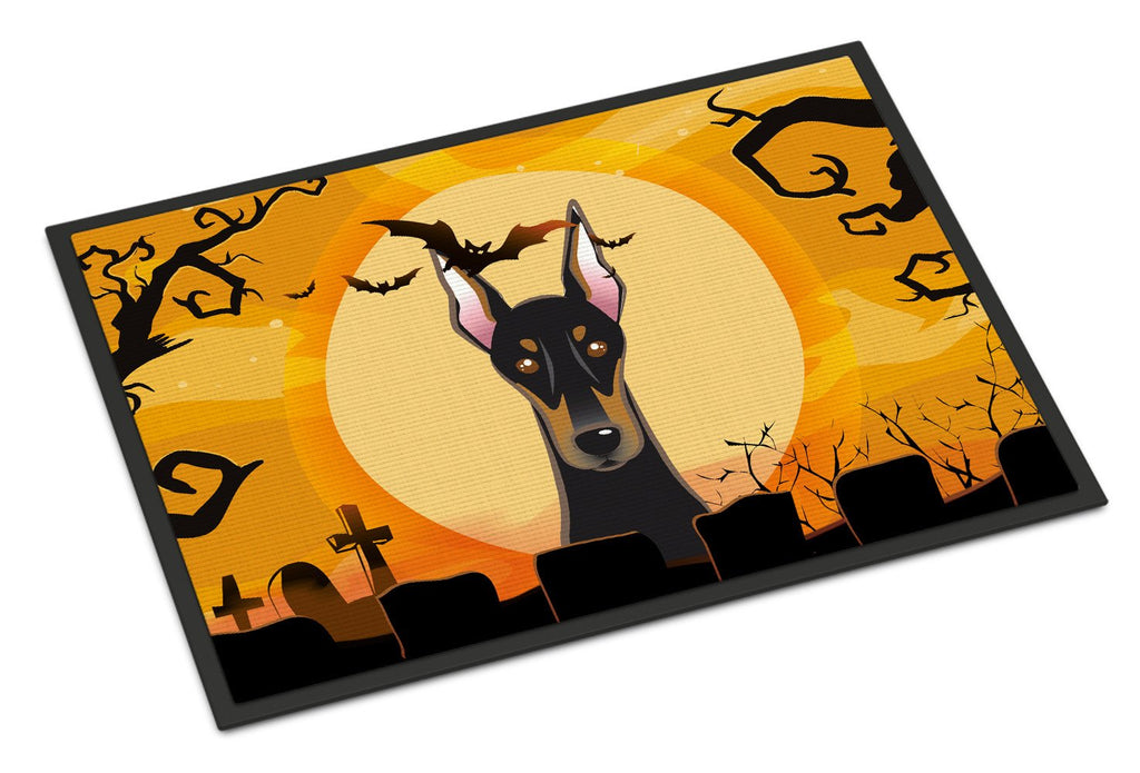 Buy this Halloween Doberman Indoor or Outdoor Mat 18x27 BB1803MAT