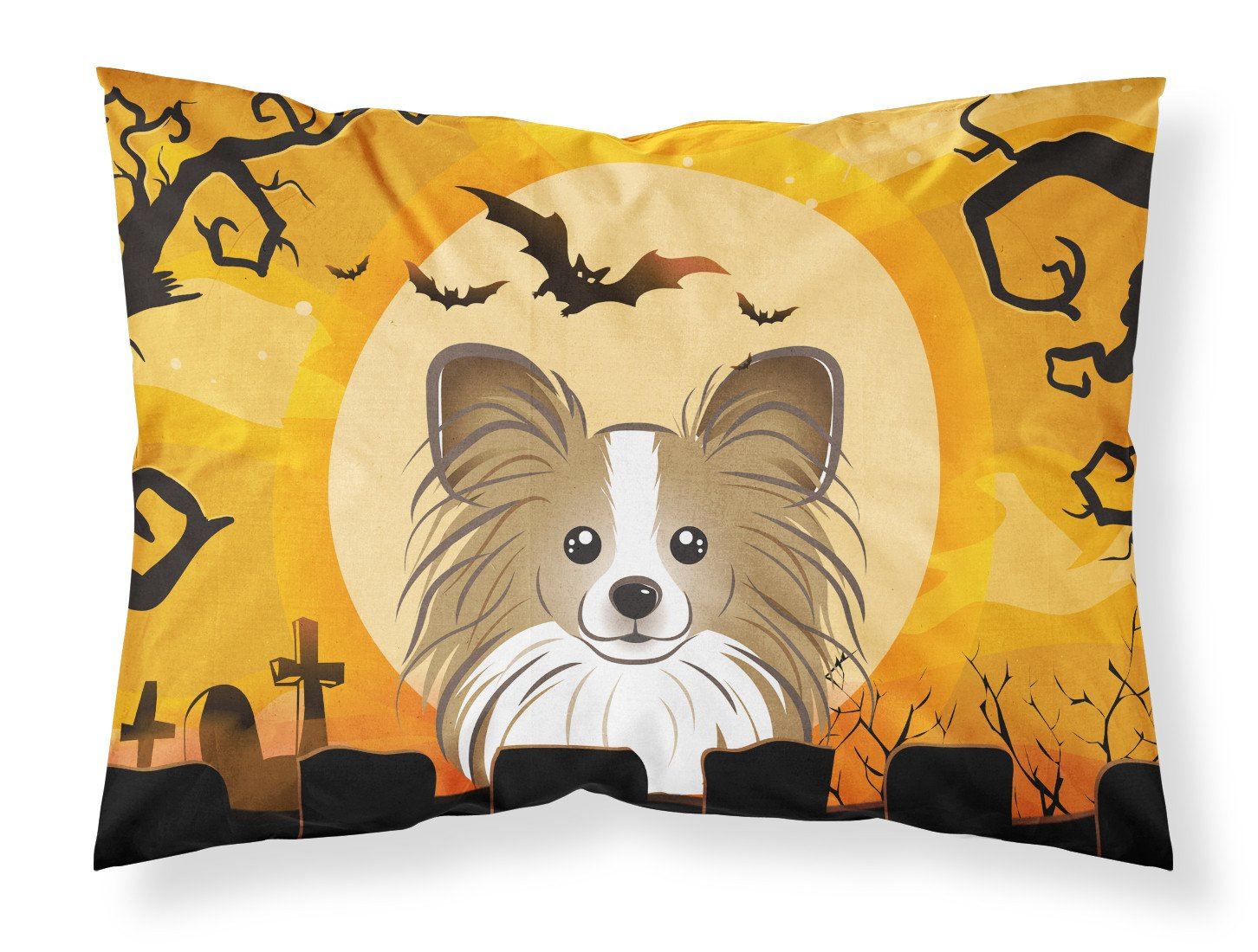 Halloween Papillon Fabric Standard Pillowcase BB1806PILLOWCASE by Caroline's Treasures