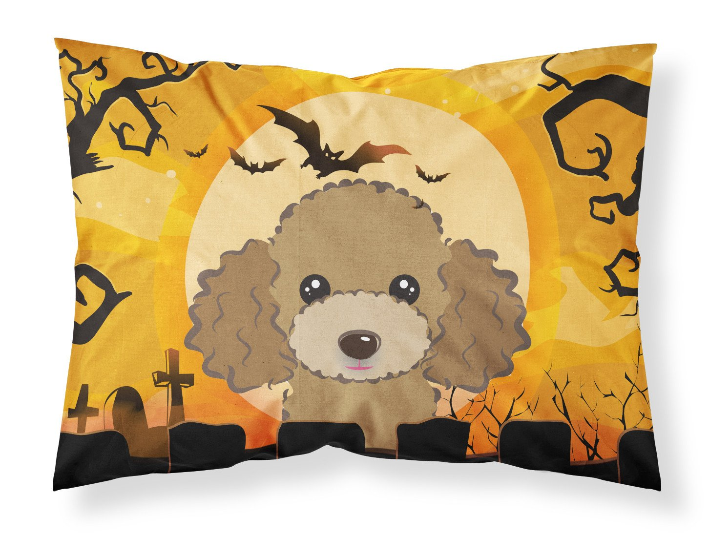 Buy this Halloween Chocolate Brown Poodle Fabric Standard Pillowcase BB1814PILLOWCASE