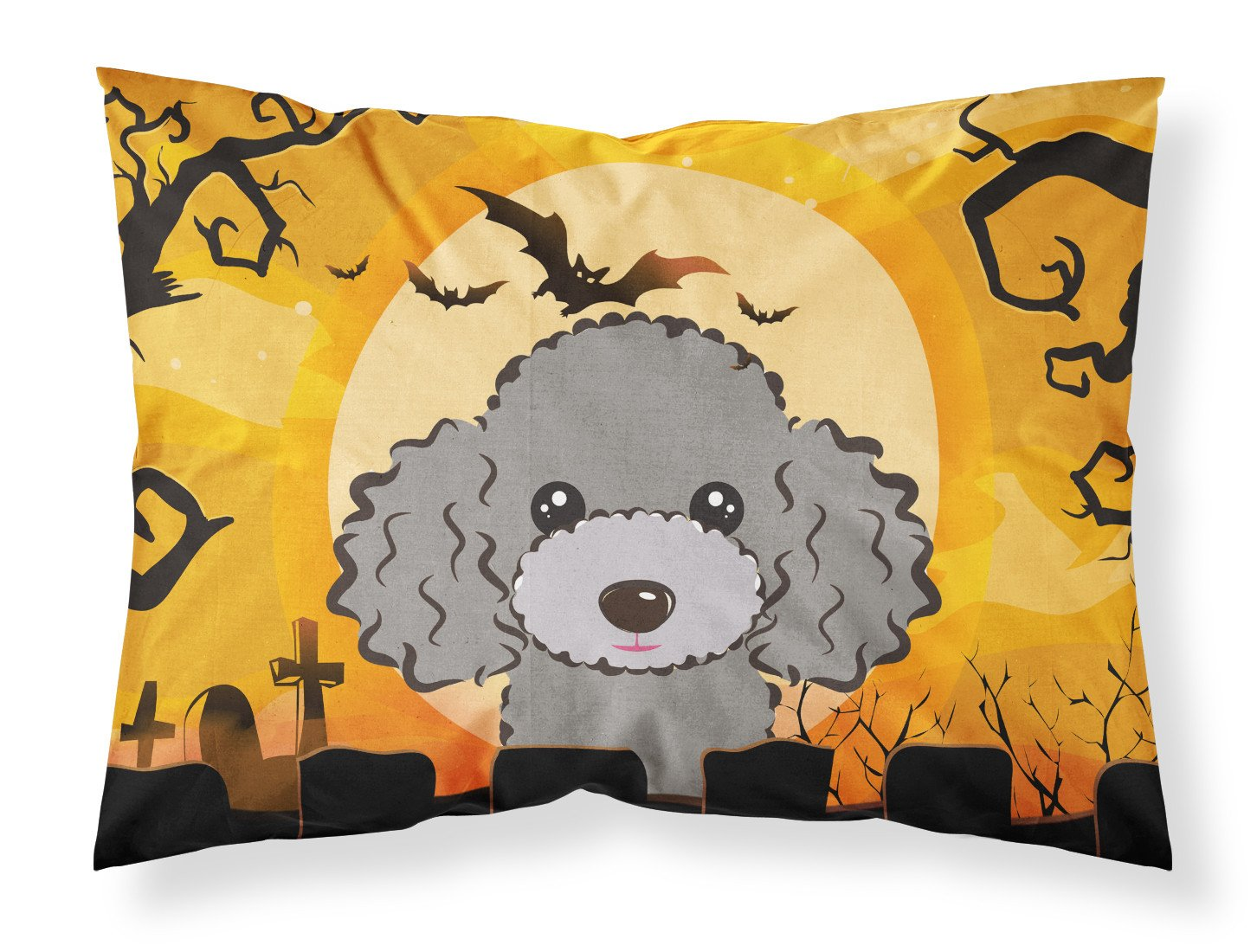 Buy this Halloween Silver Gray Poodle Fabric Standard Pillowcase BB1817PILLOWCASE