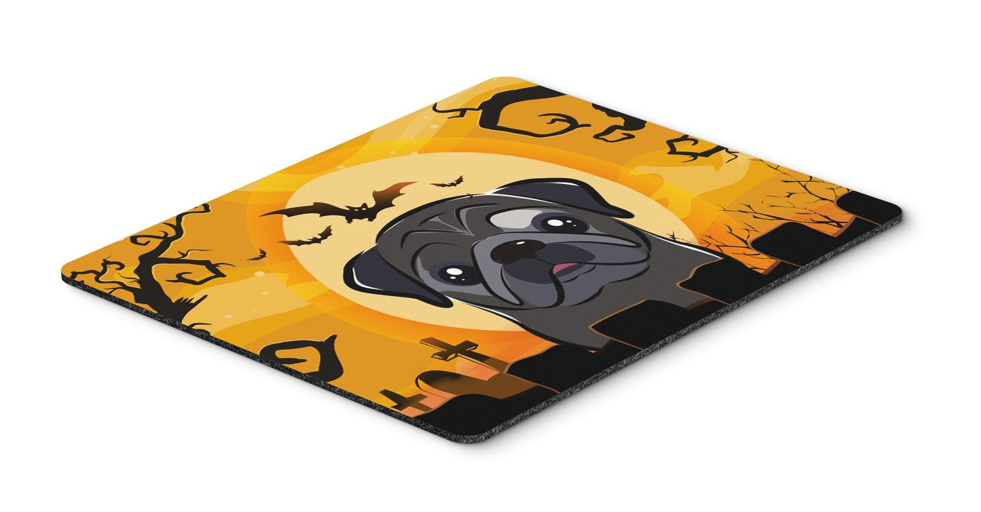 Halloween Black Pug Mouse Pad, Hot Pad or Trivet BB1821MP by Caroline's Treasures