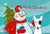 Buy this Snowman with Bull Terrier Fabric Placemat BB1829PLMT