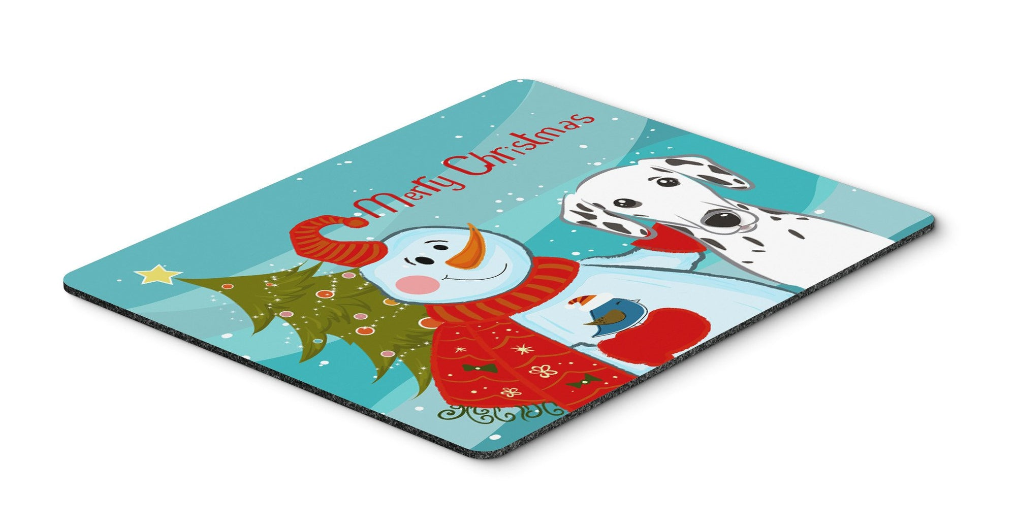 Snowman with Dalmatian Mouse Pad, Hot Pad or Trivet BB1830MP by Caroline's Treasures