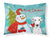 Buy this Snowman with Dalmatian Fabric Standard Pillowcase BB1830PILLOWCASE