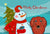 Buy this Snowman with Longhair Red Dachshund Fabric Placemat BB1834PLMT