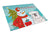 Buy this Snowman with White English Bulldog  Glass Cutting Board Large BB1840LCB