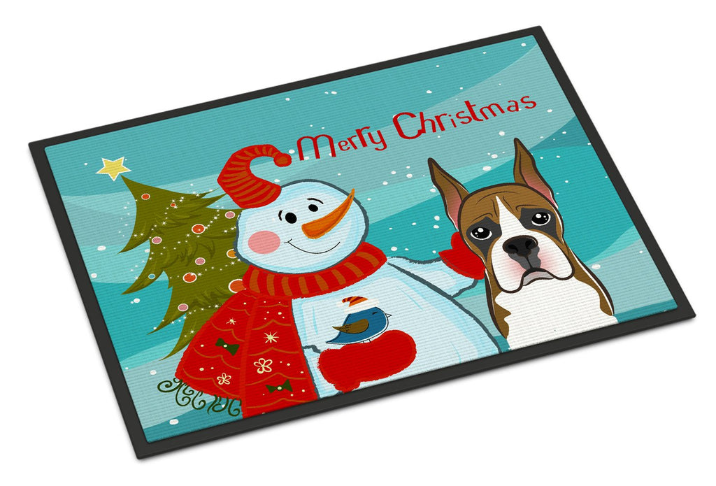 Buy this Snowman with Boxer Indoor or Outdoor Mat 24x36 BB1843JMAT