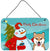 Snowman with Shiba Inu Wall or Door Hanging Prints BB1845DS812 by Caroline's Treasures