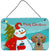 Buy this Snowman with Wirehaired Dachshund Wall or Door Hanging Prints BB1853DS812