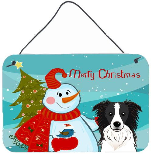 Buy this Snowman with Border Collie Wall or Door Hanging Prints BB1861DS812