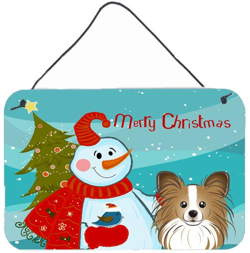Buy this Snowman with Papillon Wall or Door Hanging Prints BB1868DS812