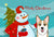 Buy this Snowman with Sable Corgi Fabric Placemat BB1873PLMT
