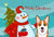 Buy this Snowman with Red Corgi Fabric Placemat BB1874PLMT
