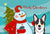 Buy this Snowman with Tricolor Corgi Fabric Placemat BB1875PLMT