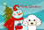 Buy this Snowman with White Poodle Fabric Placemat BB1877PLMT