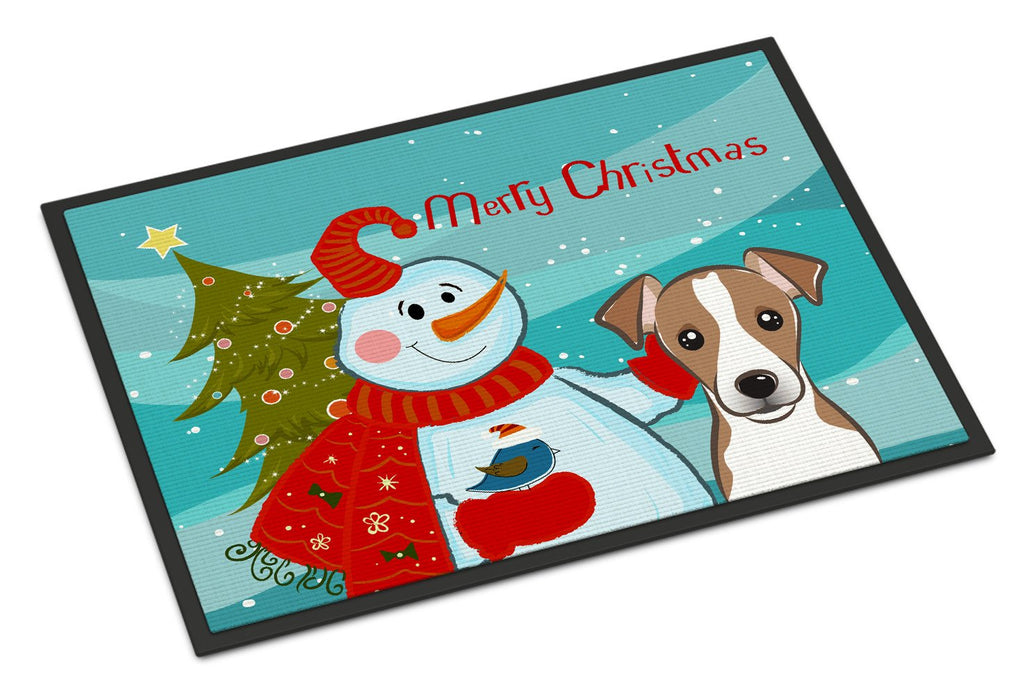 Buy this Snowman with Jack Russell Terrier Indoor or Outdoor Mat 24x36 BB1880JMAT