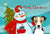 Buy this Snowman with Jack Russell Terrier Fabric Placemat BB1881PLMT