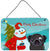Buy this Snowman with Black Pug Wall or Door Hanging Prints BB1883DS812