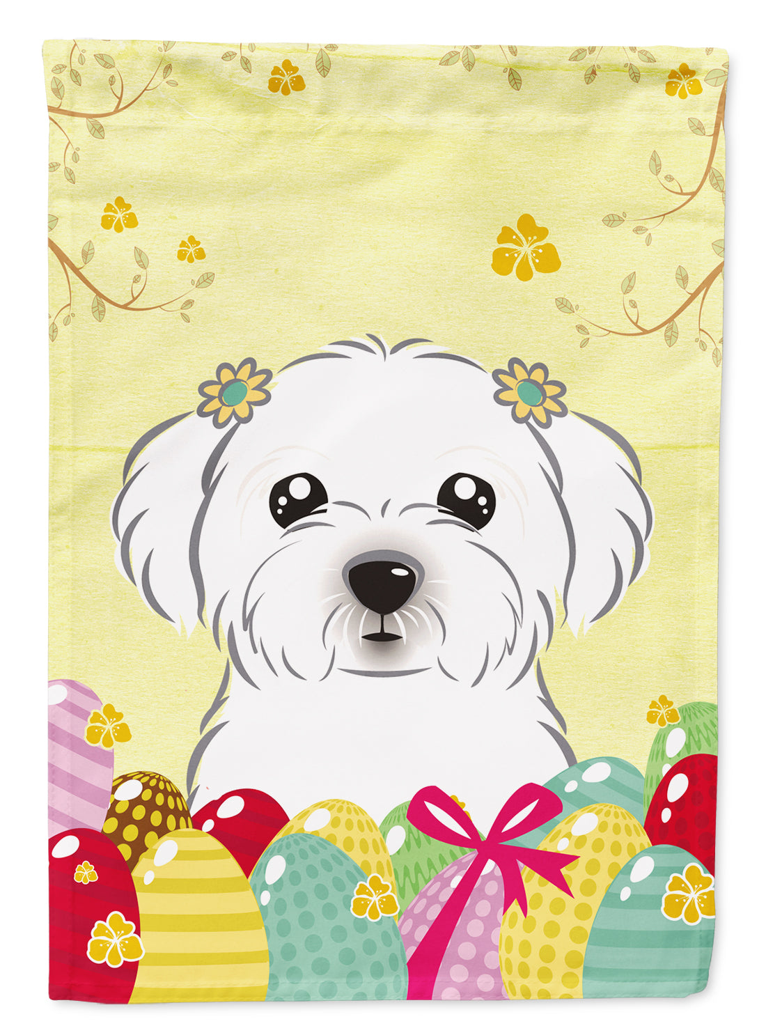 Maltese Easter Egg Hunt Flag Garden Size BB1890GF by Caroline's Treasures
