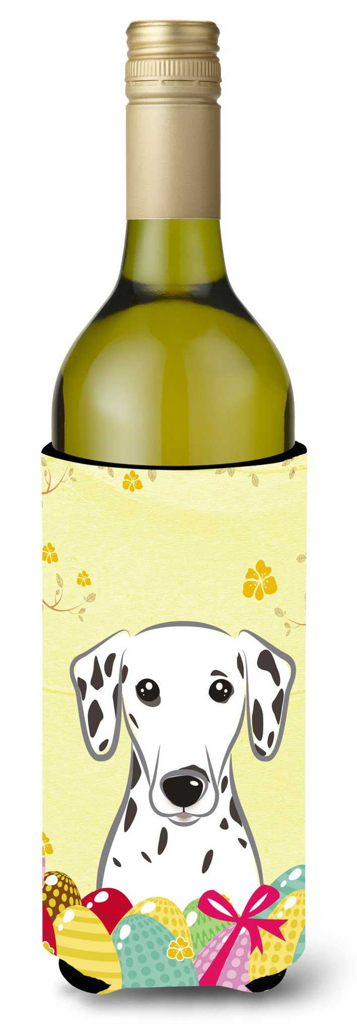 Dalmatian Easter Egg Hunt Wine Bottle Beverage Insulator Hugger BB1892LITERK by Caroline's Treasures