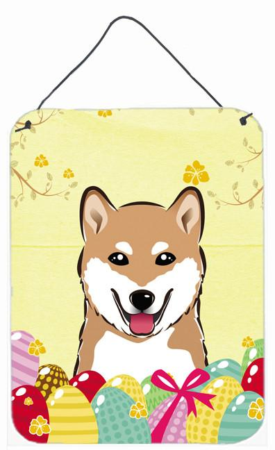 Buy this Shiba Inu Easter Egg Hunt Wall or Door Hanging Prints BB1907DS1216