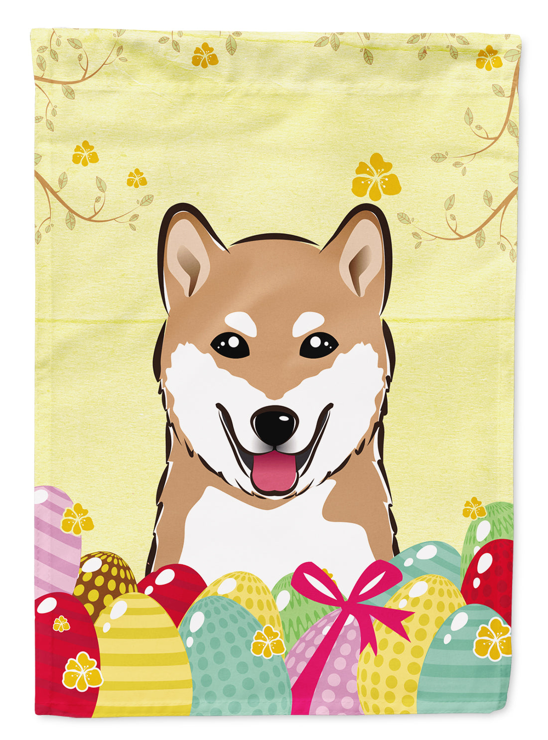 Buy this Shiba Inu Easter Egg Hunt Flag Garden Size BB1907GF