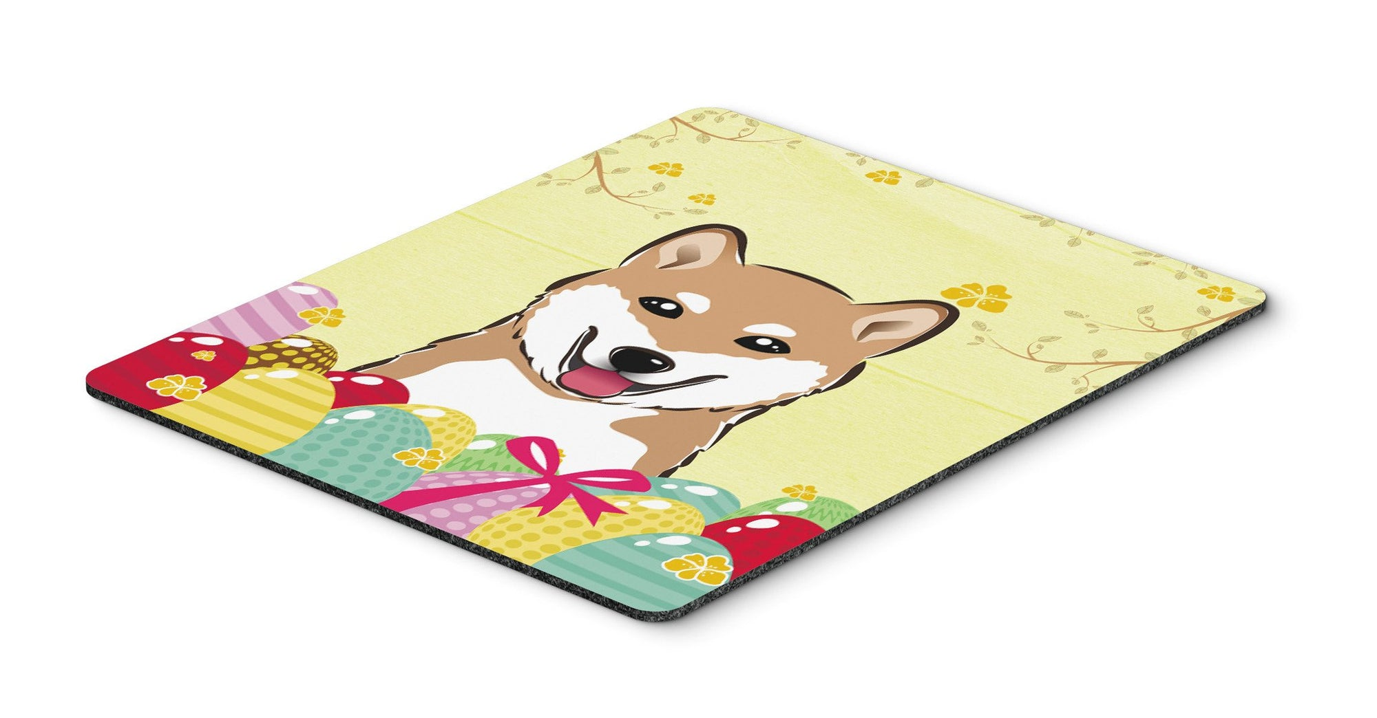 Buy this Shiba Inu Easter Egg Hunt Mouse Pad, Hot Pad or Trivet BB1907MP