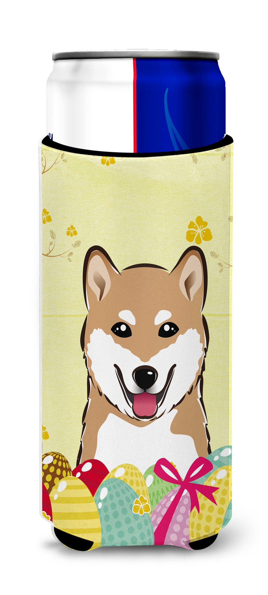 Buy this Shiba Inu Easter Egg Hunt Michelob Ultra Beverage Insulator for slim cans BB1907MUK