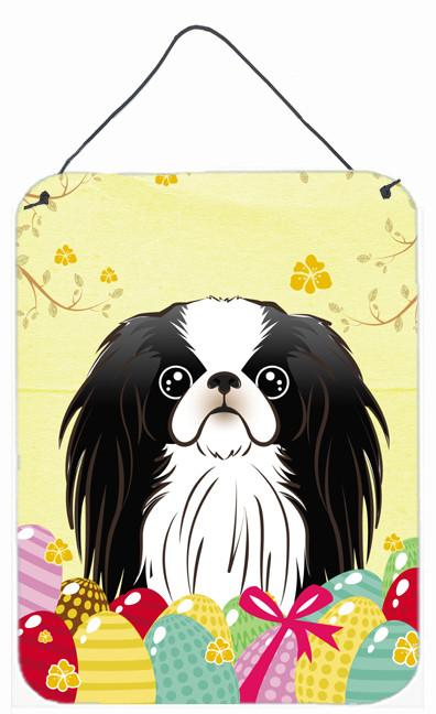 Japanese Chin Easter Egg Hunt Wall or Door Hanging Prints BB1912DS1216 by Caroline's Treasures