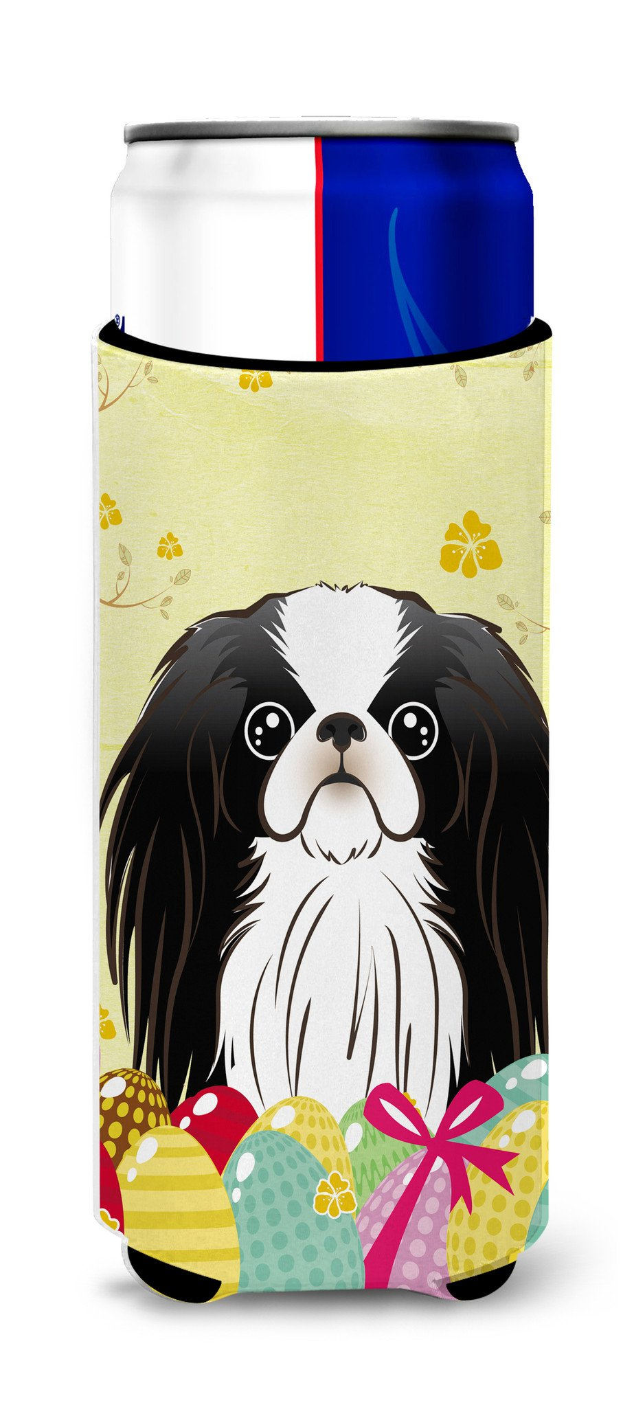 Japanese Chin Easter Egg Hunt Michelob Ultra Beverage Insulator for slim cans BB1912MUK by Caroline's Treasures
