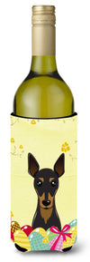 Min Pin Easter Egg Hunt Wine Bottle Beverage Insulator Hugger BB1922LITERK by Caroline's Treasures