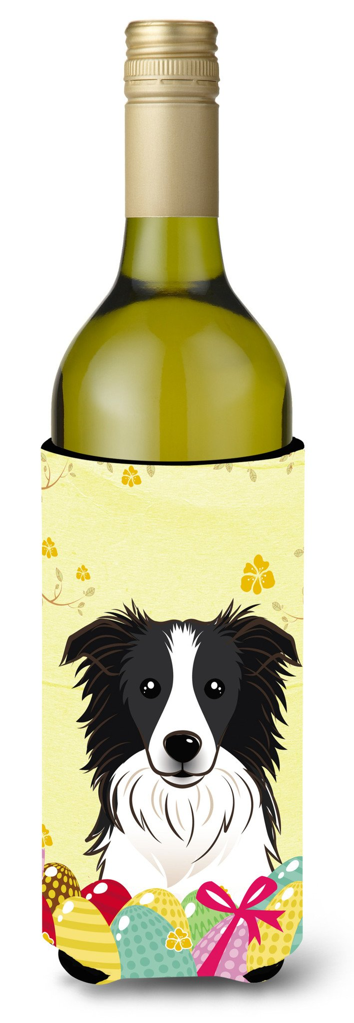 Border Collie Easter Egg Hunt Wine Bottle Beverage Insulator Hugger BB1923LITERK by Caroline's Treasures