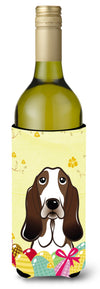 Basset Hound Easter Egg Hunt Wine Bottle Beverage Insulator Hugger BB1925LITERK by Caroline's Treasures
