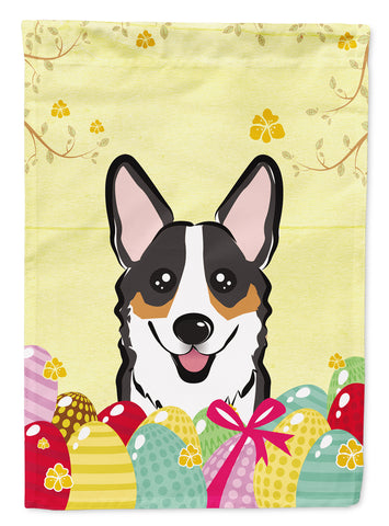 Buy this Tricolor Corgi Easter Egg Hunt Flag Canvas House Size BB1937CHF