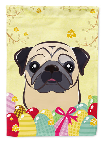 Buy this Fawn Pug Easter Egg Hunt Flag Canvas House Size BB1944CHF