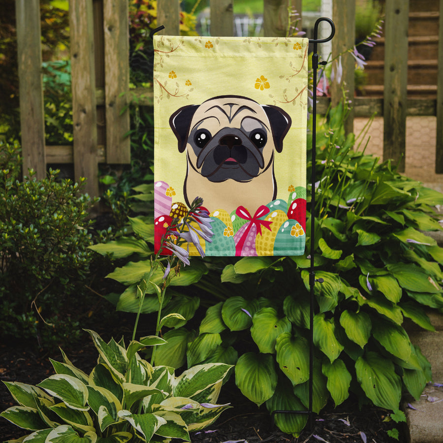 Buy this Fawn Pug Easter Egg Hunt Flag Garden Size BB1944GF