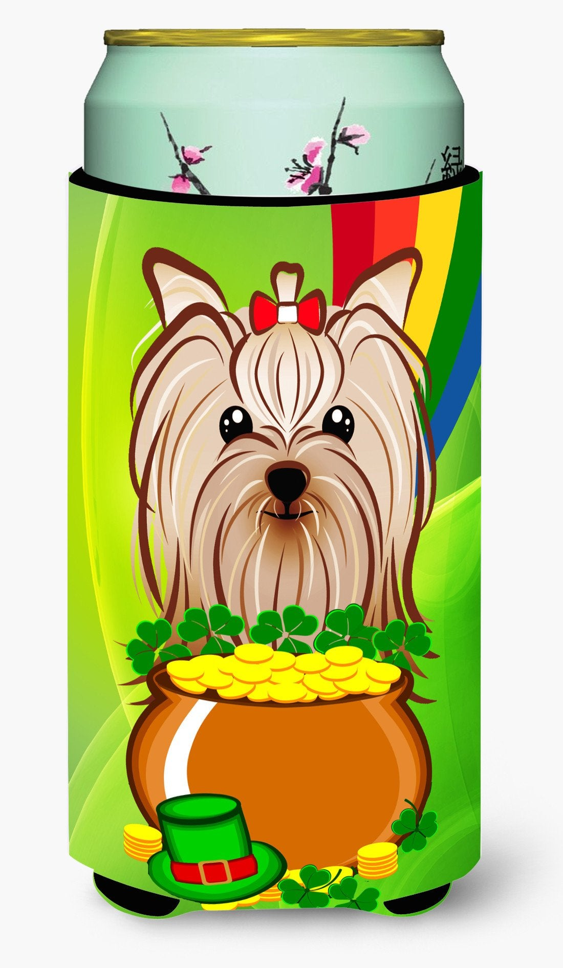 Buy this Yorkie Yorkshire Terrier St. Patrick's Day Tall Boy Beverage Insulator Hugger BB1948TBC