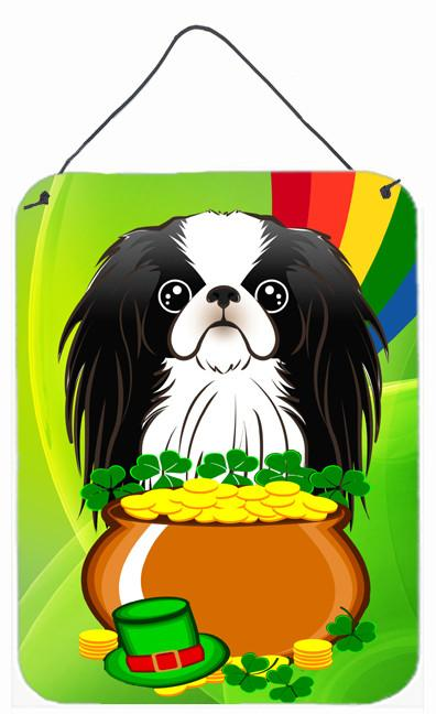 Japanese Chin St. Patrick's Day Wall or Door Hanging Prints BB1974DS1216 by Caroline's Treasures