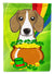 Beagle St. Patrick's Day Flag Canvas House Size BB1983CHF by Caroline's Treasures
