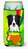 Border Collie St. Patrick's Day Tall Boy Beverage Insulator Hugger BB1985TBC by Caroline's Treasures