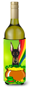Doberman St. Patrick's Day Wine Bottle Beverage Insulator Hugger BB1989LITERK by Caroline's Treasures
