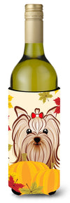 Yorkie Yorkshire Terrier Thanksgiving Wine Bottle Beverage Insulator Hugger BB2010LITERK by Caroline's Treasures