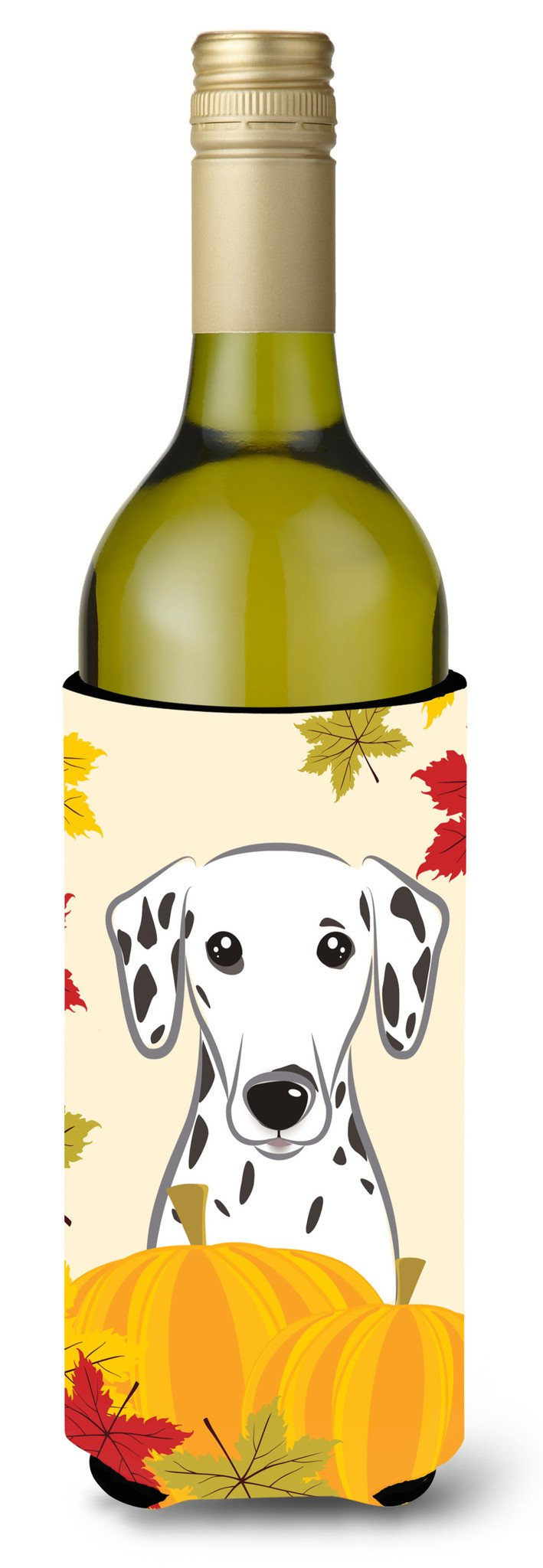 Dalmatian Thanksgiving Wine Bottle Beverage Insulator Hugger BB2016LITERK by Caroline's Treasures