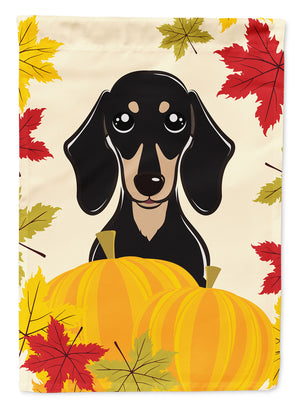 Buy this Smooth Black and Tan Dachshund Thanksgiving Flag Canvas House Size BB2021CHF