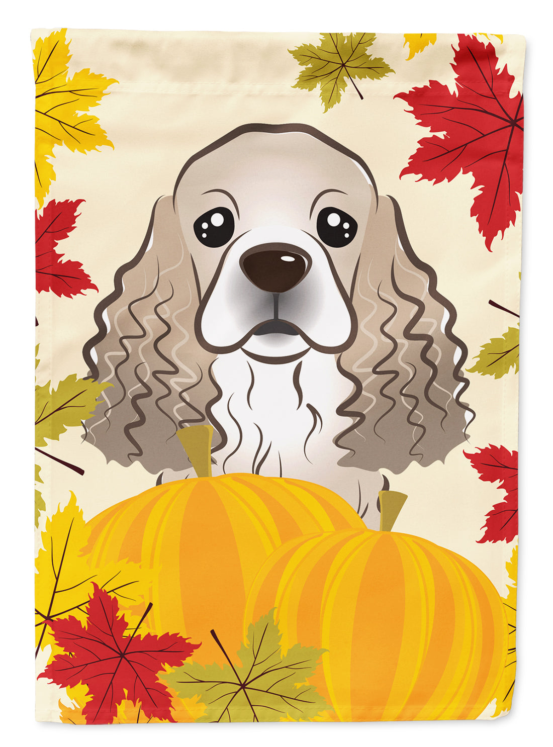 Cocker Spaniel Thanksgiving Flag Canvas House Size BB2022CHF by Caroline's Treasures